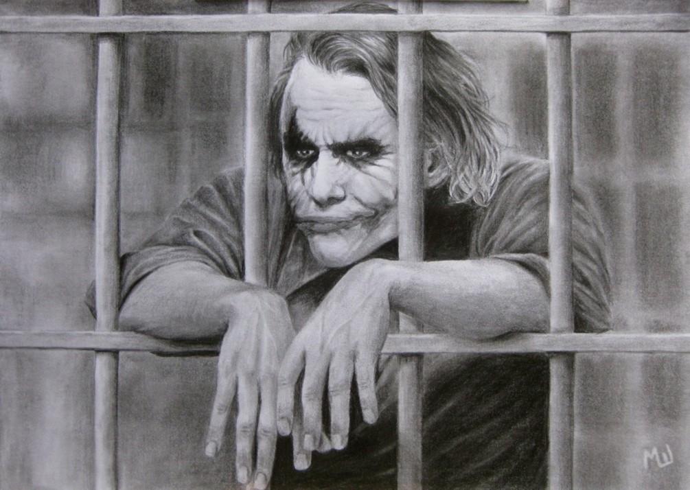 Pencil Drawing Of Heath Ledger As Joker Miroslav Sunjkic